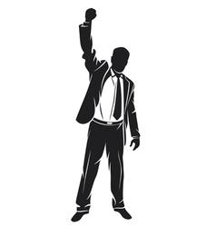 businessman celebrating vector image