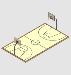Field of play basketball isometric vector