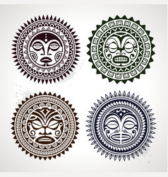Polynesian Circle Patterns vector image vector image