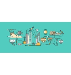 Smart Technology in Infrastructure of the City vector image