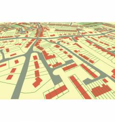 street map perspective vector image vector image