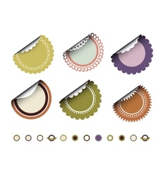 Collection of round vintage labels vector image