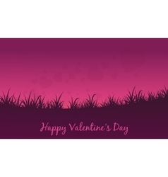 Landscape of fields valentine theme vector