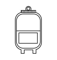 plastic bag blood donation transfusion line vector image vector image