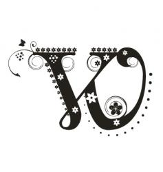 w vector image vector image