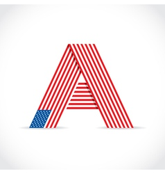 American flag Letter vector image vector image
