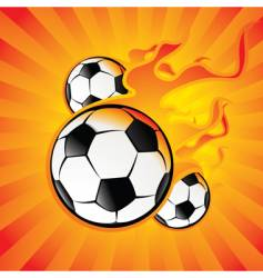 ball in the fire vector image vector image