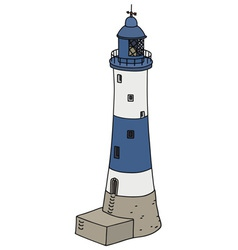 Blue lighthouse vector image vector image