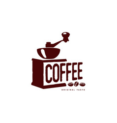 coffee grinder mill flat icon isolated vector image