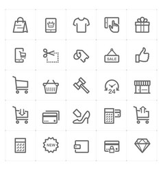 con set - shopping and commerce vector image
