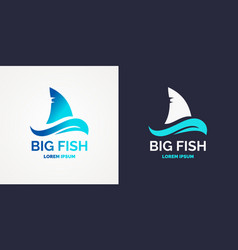 modern logo for sea fishing vector image