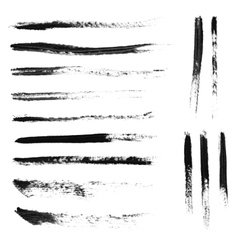 Set of 14 artistic mascara brush strokes vector image vector image