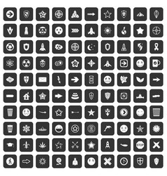 100 logotype icons set black vector