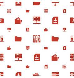 archive icons pattern seamless white background vector image