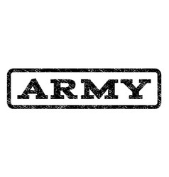 Army watermark stamp vector