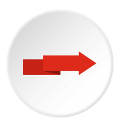 arrow to right icon circle vector image