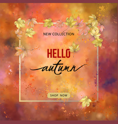 autumn banner with frame vector image