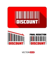 Bar code sale and discount sticker vector