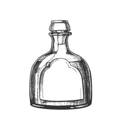 Blown classic mexican tequila glass bottle vector