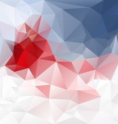 Blue red abstract polygon triangular pattern vector
