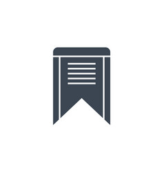 Bookmark related glyph icon vector