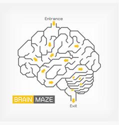 Brain maze creative idea concept outline vector