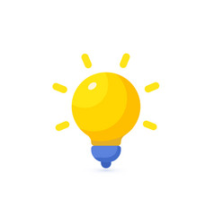bright yellow lamp icon energy lightbulb logo vector image