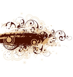 Brown graphic background vector