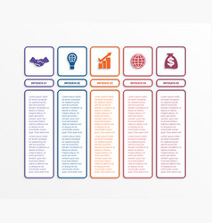 business infographics template with 5 options vector image