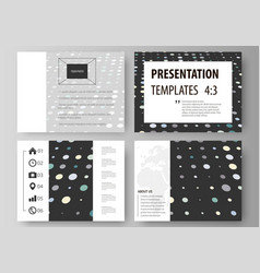 business templates for presentation slides easy vector image