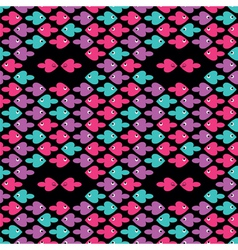 cartoon fishes pattern vector image
