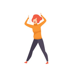 casually dressed woman shouting in a rage vector image