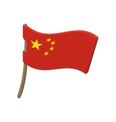 Chinese flag cartoon style vector