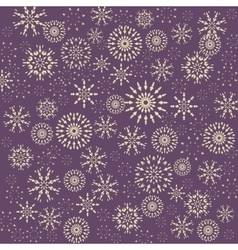 Christmas snowflake pattern Winter theme texture vector image