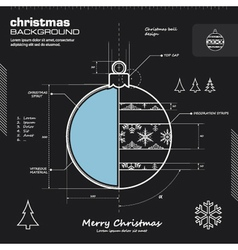 Christmas tree bauble decoratio infographic design vector image