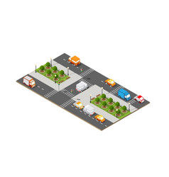 city isometric 3d intersection vector image