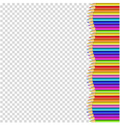 colored pencils right side border in shape of vector image