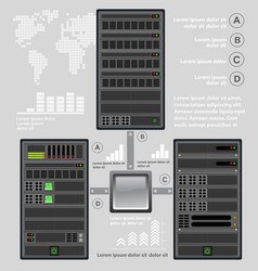 computer for a crypto server vector image