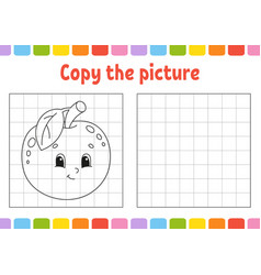 Copy picture coloring book pages for kids vector