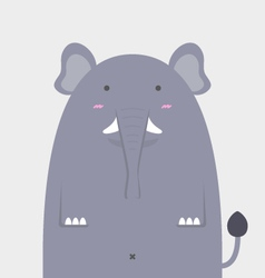 cute fat big elephant vector image