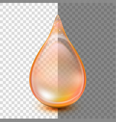 drop isolated on transparent background eps 10 vector image