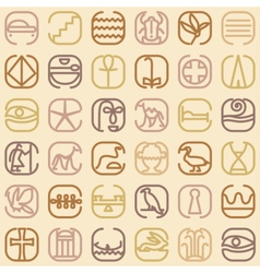 Egypt symbol icon seamless pattern vector image