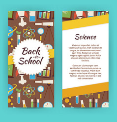 Flyer Template of Flat design School Knowledge vector
