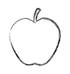 fresh apple fruit tasty nutrition icon vector image