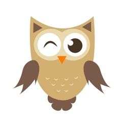 Funny cartoon owl icon vector