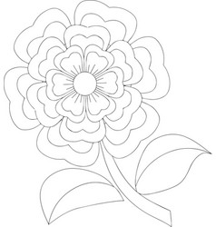 Giant flower isolated line art vector