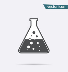 gray chemistry icon isolated on background modern vector image
