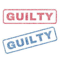 Guilty textile stamps vector