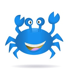 Hand Drawn Blue Crab vector image