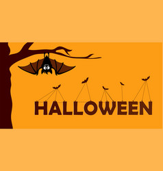 happy halloween paper cut style concept of vector image